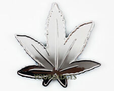 New ABS Chrome Cannabis leaf Weed Car Badge Smoker