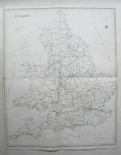 ENGLAND 1831 Very Large Antique Map T.L. Murray