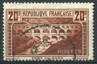 """FRANCE  N° 262  """" 20 FRANCS PONT DU GARD  """"  OBLITERE TB"""
