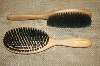 Naturhaarbürste mittelfest Wildschweinborste Haarbürste, auch für Kinder, neu