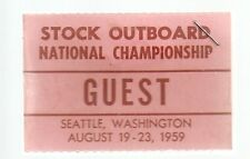 1959 Seattle Stock Outboard National Championship Credentials Badge