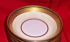 "LOT OF 5 H&C HEINRICH & Co Selb Bavaria "" GOLD "" TRIM 5 1/4 "" BERRY BOWLS"