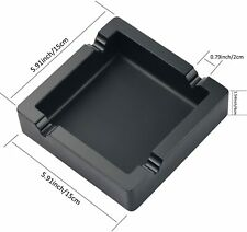 "Cigar Ashtray Silicone patio outside-home unbreakable 5.5""square"