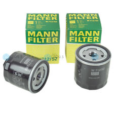 2x MANN FILTER W712/52 ANSCHRAUBFILTER PATRONE ÖLFILTER für VW POLO CLASSIC 6V_