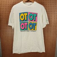 vtg single stitch usa made Occupational Therapy t-shirt XL aesthetic 80s 90s