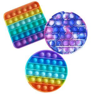 Pop Push Toy SILICONE SENSORY FIDGET TOY ANXIETY AN IT STRESS Multi RELIEF POP