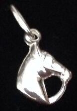 sterling silver 925 horse head pendant charm