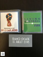 Patch badge coupe du monde 2018& écriture Détaille Coupe Du Monde France Croatie