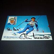 Christian Neureuther ski Original Signed Autographe CARTE 10x15