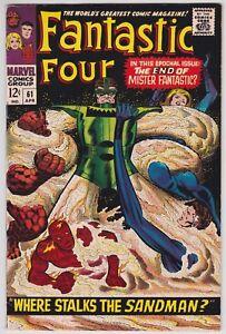 Fantastic Four #61 F+ 6.5 Where Stalks The Sandman Jack Kirby Art!
