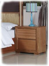 Alice 2 Drawer Maple Hardwood Bedside Table - Fully Assembled - BRAND NEW