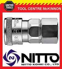 "GENUINE NITTO FEMALE COUPLING AIR FITTING WITH 3/8"" FEMALE THREAD (30SF) – JAPAN"