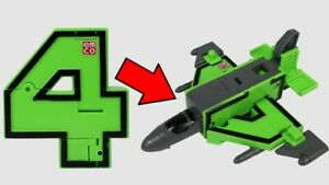 Number Transforming Plane Pocket Morphers Skyfighter 4 Four Emco Toy New 6Yrs+