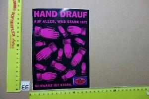 Alter Aufkleber Zigaretten SCHWARZE HAND Roth-Händle(?) Sprüche 1 Bogen