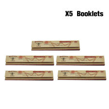 5x Hornet Organic Brown 110MM Cigarette Smoking Rolling Paper King Size 32leaves