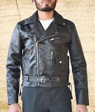 Terminator 2 Judgement Day Arnold  Biker Black Leather Jacket size Small-5XL Men