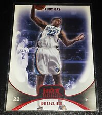 Rudy Gay 2008-09 Hot Prospects Ruby (Red) Parallel Insert Card (#'d 12/25)
