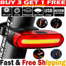 4 Mode LED Tail Lamp Bike Bicycle Cycling USB Rechargeable Front Rear Light AU