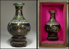 Chinese Old Cloisonne Dragon Flower Vase / W 10.5 × H 15.2 [cm]