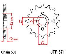 Front Sprocket JTF571 16 Tooth Yamaha XJ400 XS400 XJ550 FZ600 XJ600 New