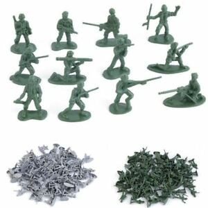 100pcs/Pack Military Plastic Toy Soldiers Army Men Figures 12 Poses Gift Hot TR