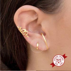 Single 8mm Tiny Sterling Silver Plain Huggie Hoop Earrings gold huggies dainty
