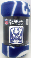 """Indianapolis Colts Blanket 50"""" by 60""""  Marque Style Fleece Throw Blanket"""