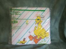 Vintage Sesame Street Big Bird & Friends Thermal Baby Blanket Satin Edge NEW