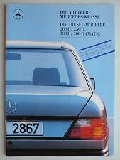 Prospekt Mercedes W 124: 200 D, 250 D, 300 D, 300 D 4Matic, 8.1987, 40 Seiten