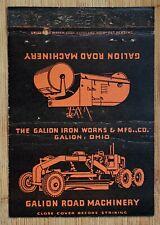 Vintage Matchbook Gallion Road Machinery Gallion Iron Works Ohio