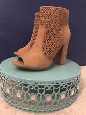 Bamboo Cutout Booties Heel Shoes