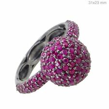 MOTHERS DAY GIFT Pink Ruby Gemstone Ring Sterling Silver Fashion Fine Jewelry PY