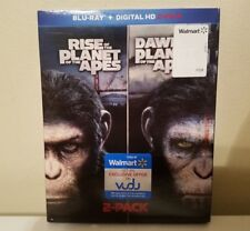 RISE OF THE PLANET OF THE APES & DAWN OF THE PLANET OF THE APES BLU-RAY ONLY