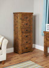 Baumhaus Heyford Rough Sawn Oak Tallboy (6 Drawer)