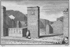 Antichità di Ercolano - Incisione su rame originale 1767 - Veduta con mescita