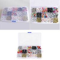 A Box of 1100pcs Acrylic Alphabet Letters Mixed Beads Cube Charms