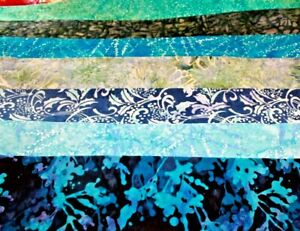 Hoffman Rainbow Blues Batik Cotton Fabric Your Choice By The Half Yard