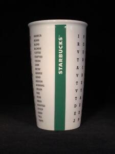STARBUCKS Word Search Coffee Travel Mug w Lid 2016 12 fl oz - FREE SHIPPING!