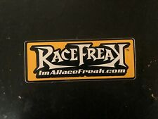 RaceFreak decal sticker NASCAR ASA ARCA NHRA LATE MODEL STOCK CAR RACING