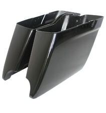 """Gloss black 2014-2017 Harley HD 4.5"""" Stretched Extended Saddlebags Bottoms only"""