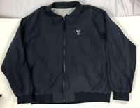 Louis Vuitton Bootleg Navy Golf Jacket size Large LV gucci