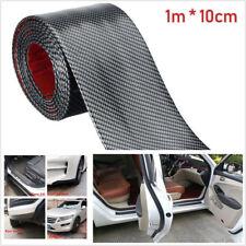 1m Carbon Fiber Car SUV Scuff Plate Door Sill Cover Panel Step Guard Protector