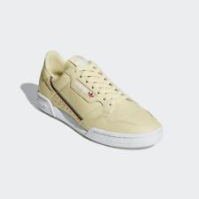 Adidas Men's Continental 80 Sneakers, Mist Sun/ Hi Res Aqua / Scarlet