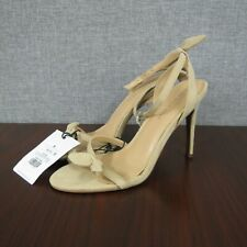 Who What Wear Taupe Eden Women's Heeled Ankle Strap Sandals size 8