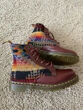 DR MARTENS AIRWAIR PENDLETON Men 9 Woman 10 CHERRY RED SMOOTH PAGOSA 1460 BOOT