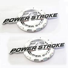 2x OEM 7.3L POWER STROKE SUPER DUTY Side Fender Emblems Ford F-250 F-350 Chrome