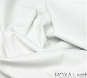 ROXA URBAN Craft Authentic Lambskin Leather Skins White 6 SqFt Nappa Lamb Finish