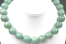 Halskette Kugelkette Edelsteine Natur Aventurin grün groß Kugel 16mm