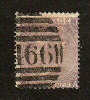 Great Britain stamp #45, used, 1865, Queen Victoria, p. 5,  wmk. 24, SCV $100