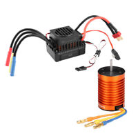 Brushless System 4370KV Motor + Waterproof Brushless 45A ESC for 1/10 RC Car